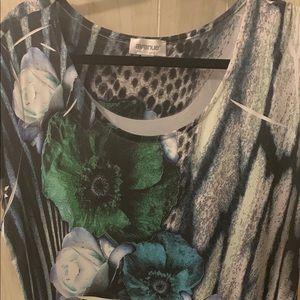 3X multi-color blouse